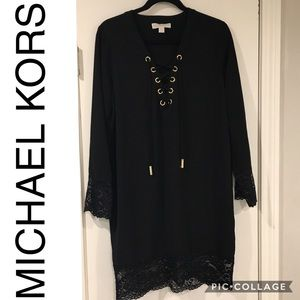 Michael Kors Black lace accented Dress - Size 8